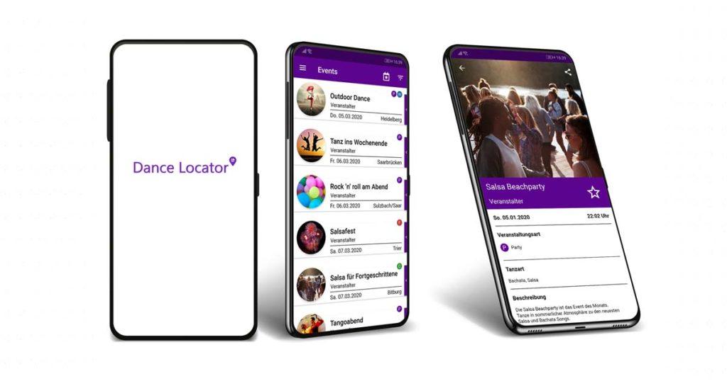 Dance Locator App Mockup